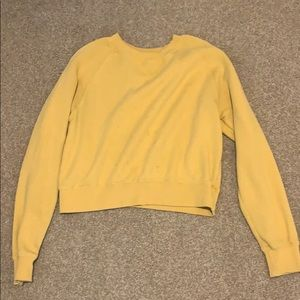 Brandy Melville Yellow Crewneck
